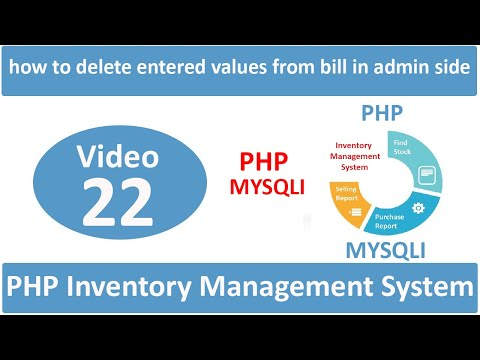 how to delete entered values from bill in admin side in php ims