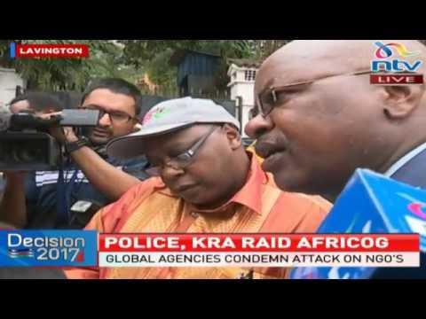 Drama as KRA, police raid AfriCOG offices