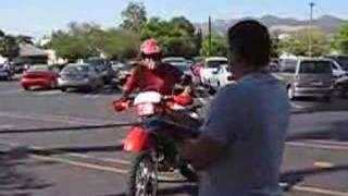 DMV Motorcycle Riding test