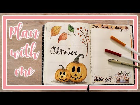 BULLET JOURNAL OKTOBER 2018 🍂🎃 || Plan with me