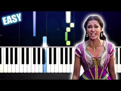 Naomi Scott - Speechless (Aladdin) - EASY Piano Tutorial by PlutaX