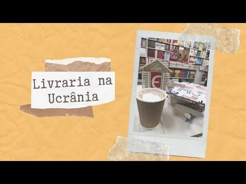 Vlog numa livraria na Ucrânia