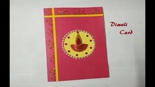 Easy greeting card viveos handmade diwali greeting card diwali card easy greeting card m4hsunfo