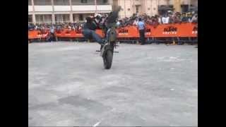 Padmaprashanth Indias Best Stunter Ktm Stunt Show Mangalore 2014