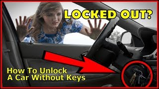 How to unlock a car door without keys, the easy way.