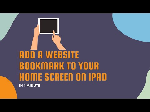 Add a Website Bookmark to Your Home Screen on iPad