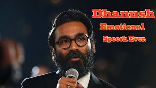 Dhanush Sings His Favourite Song And Gets Emotional.