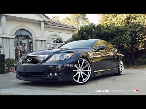 "LEXUS LS460 on 22"" ACE CONVEX WHEELS / RIMS"