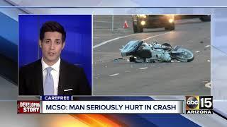 Rider seriously hurt in Carefree crash