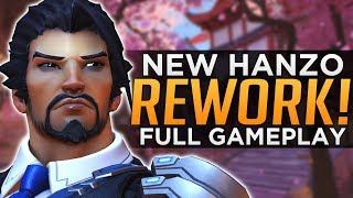 Overwatch NEW Hanzo REWORK Gameplay! - ALL Abilities Breakdown!