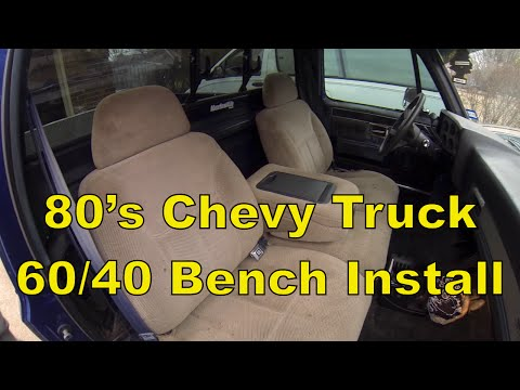 How To 80 S C10 Chevy Truck Install A 95 Split Bench