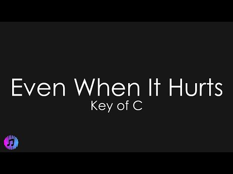 Even When It Hurts (Praise Song) - Hillsong UNITED | Piano Karaoke [Key of C]