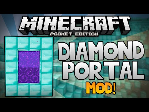 DIAMOND PORTAL MOD For MCPE!!! - Turn Your World Into Treasure - Minecraft PE (Pocket Edition)