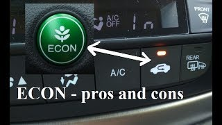 ECON - pros and cons - Honda - is it worth using? eco-driving - What might be annoying