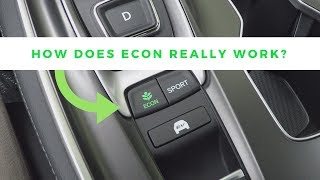 How To Use The Econ Button In Your Honda