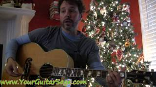 The First Noel - How to play on acoustic guitar Christmas song beginner lesson