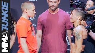 UFC 237: Rose Namajunas vs.  Jessica Andrade staredown