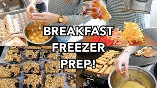 BREAKFAST FREEZER MEAL PREP!   3 EASY LARGE FAMILY RECIPES