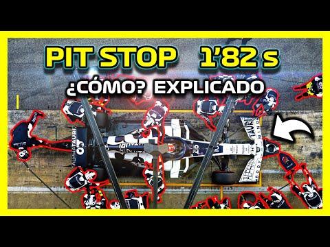 PIT STOP F1 🔥 *RÉCORD RED BULL* 💥 ¿Por Qué tan Rápido? Cambio Neumáticos (Ruedas) Pit Lane Formula 1