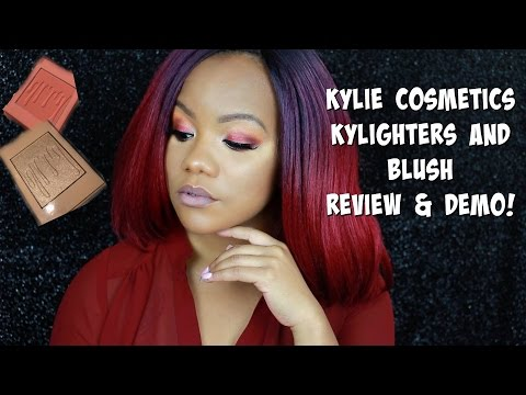 New! Kylie Cosmetics Kylighter + Blush Review and Demo