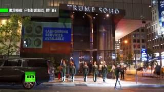 «Крепись, братан!»: проекция с Путиным появилась на фасаде отеля Трампа в Нью-Йорке