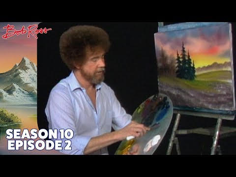 Bob Ross - Cabin at Sunset (Season 10 Episode 2)