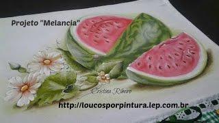 Como pintar melancia passo a passo