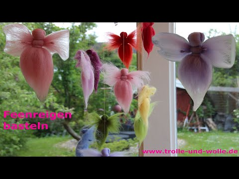 Bastelanleitung  Feenreigen aus Märchenwolle / DIY fairy tinker