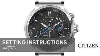 OFFICIAL CITIZEN SETTING INSTRUCTIONS: W770