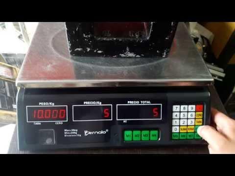 Ajuste peso (calibración) báscula Bernalo ACS-30