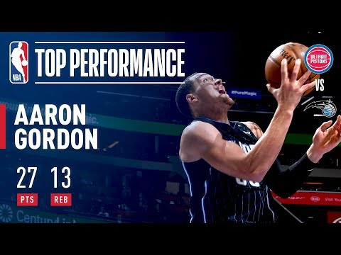 Aaron Gordon Paces the Magic With 27 and 13 in a Win Over the Pistons | March 2, 2018