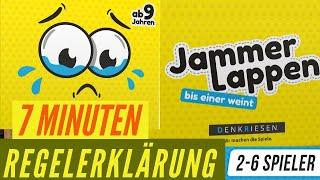 JAMMERLAPPEN - Regeln - Aufbau - Anleitung - Regelerklärung - Kartenspiel