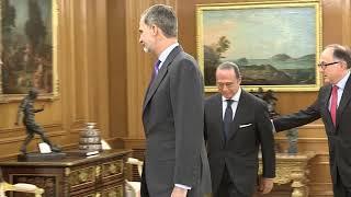 S.M. el Rey recibe en audiencia al presidente de IAG y al presidente de Iberia