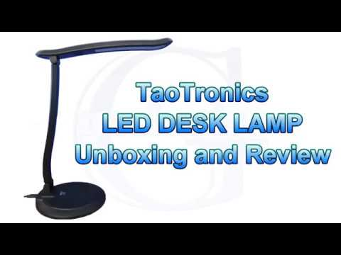 AMAZON LED DESK LAMP UNBOXING, FIRST IMPRESSION, REVIEW, TAOTRONICS