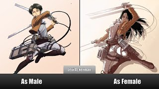 Attack On Titan Characters Gender Swap