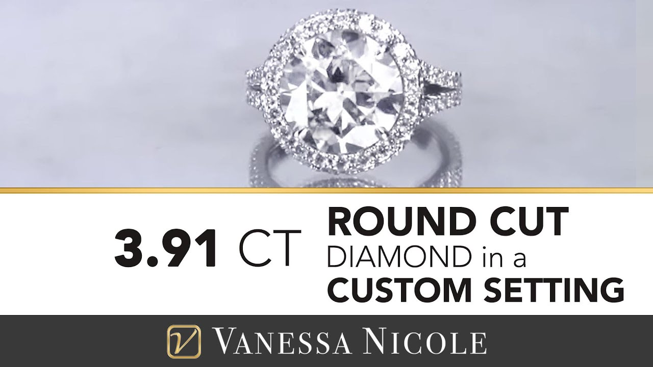 3.91ct Round Cut Diamond Ring