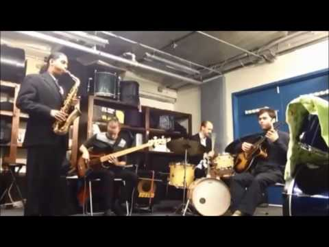Me rehearsing with the Imraan Khan Quartet. The song being played is called Billie's Bounce by Charlie Parker.