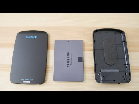Fast Custom external SSD Inateck USB 3.0 hdd enclosure 1TB Samsung 840 evo