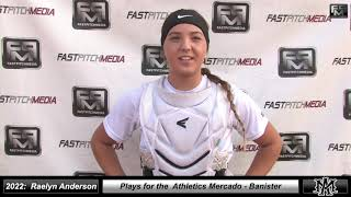 2022 Raelyn Anderson Athletic Catcher Softball Skills Video - Athletics - Mercado Banister