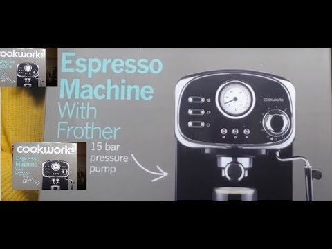 Cookworks espresso coffee machine with frother-