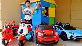 전동 자동차 장난감 가게놀이 예준이집 강아지 플레이하우스 키즈 바이크 조립놀이 Power Wheels Car Toy Pretend Play Video for Kids