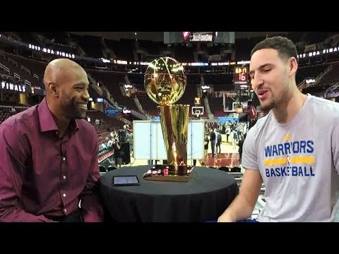 Vince Carter Interviews Klay Thompson About the NBA Finals, Gameday Preparation, & MORE!