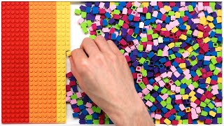 1,296 Toy Bricks Sorted by Color (Time-Lapse)
