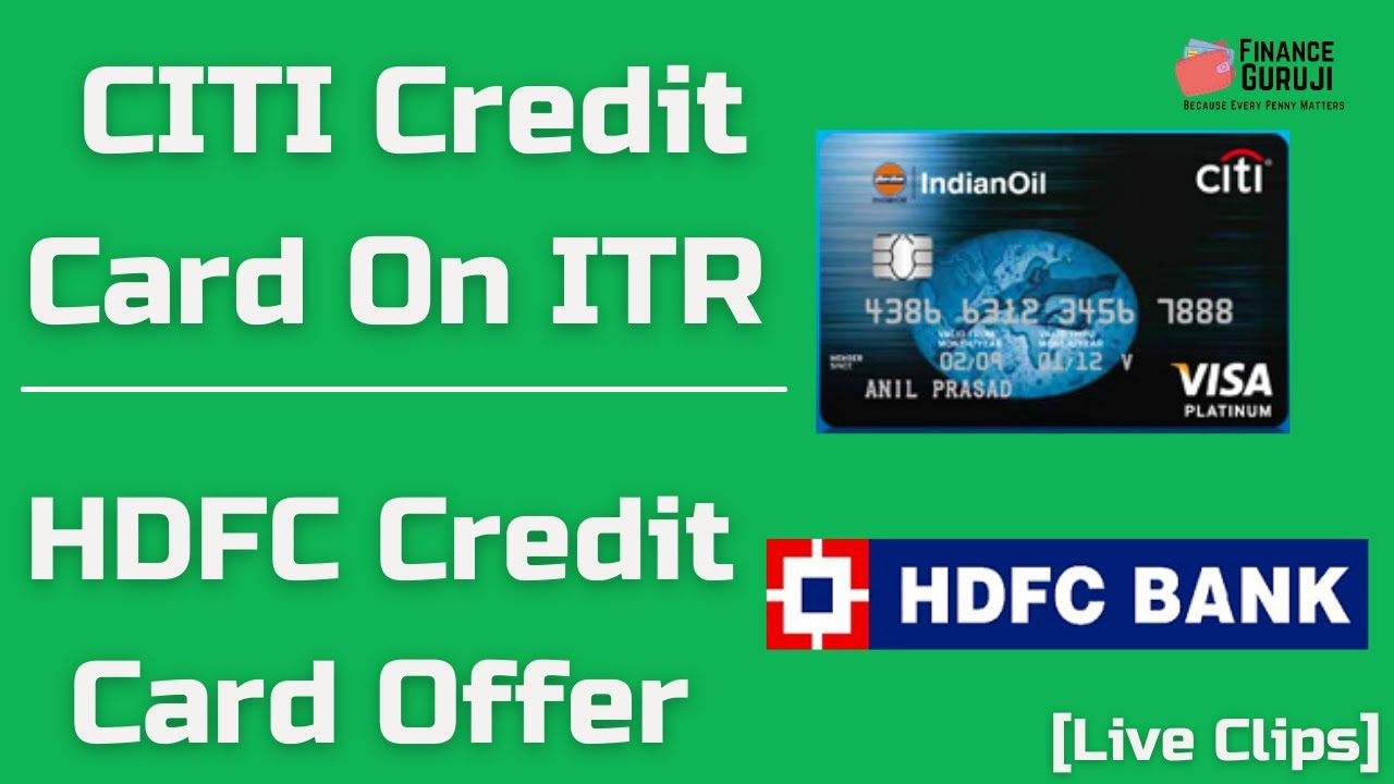 CITI Charge Card On ITR|HDFC Charge Card Deal [Clip] thumbnail
