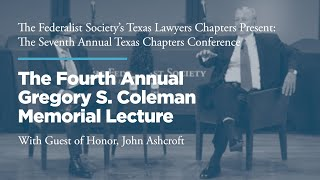Click to play: Fourth Annual Gregory S. Coleman Memorial Lecture & Luncheon