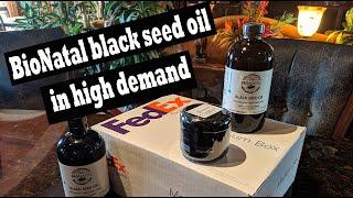 BioNatal black seed oil is in high demand