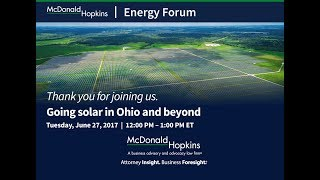 Going Solar in Ohio and Beyond