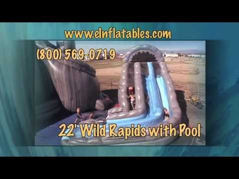 22 Foot 'Wild Rapids' Water Slide with Pool | eInflatables