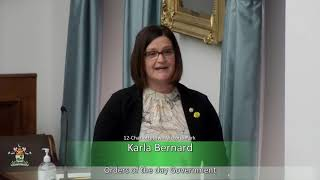 Response to the Speech from the Throne (MLA Karla Bernard)