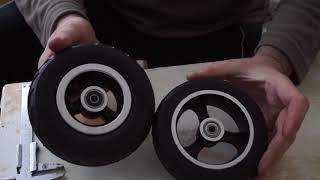 Литое колесо 6х2 для электросамоката Hoverbot F-6, EcoRide Carbon от компании Интернет-магазин Мотосамокат - видео